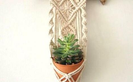 Идеи и схемы плетения макраме кашпо для цветов