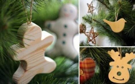 Классика жанра или простые, но очаровательные елочные игрушки из дерева