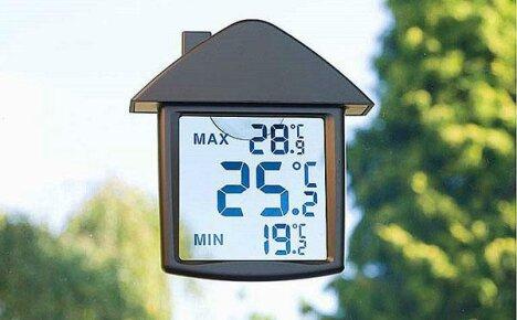 Цифровой термометр с прозрачным ЖК-дисплеем, сделанный в Китае