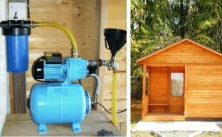 Как лучше сделать водоснабжение бани на даче
