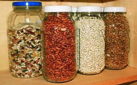 Несколько способов хранения фасоли