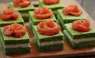 Пирожное-закуска в виде суши