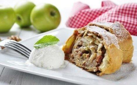 Делаем быстрый пирог –штрудель с яблоками