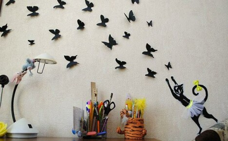 Идеи для украшения помещения с помощью бумажных бабочек