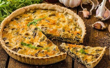 Французский пирог Киш Лорен: особенности приготовления и рецепт с добавлением курицы и грибов