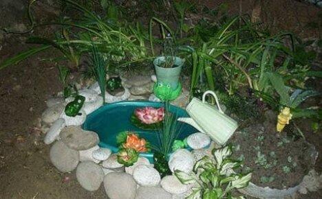 Ландшафтный дизайн дачи из подручных средств или как легко и быстро сделать мини-пруд