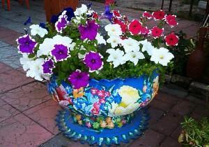 Цветы из шин, колёс - Журнал Сделай сам