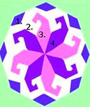 Схема расположения однолетних цветов на клумбе