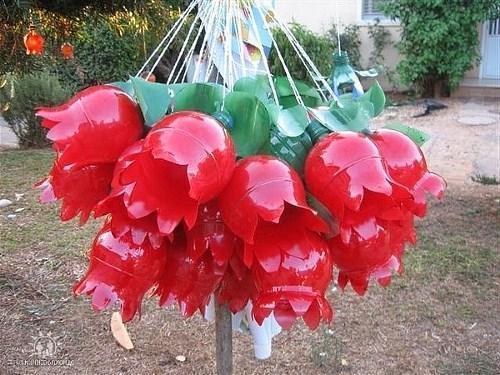 Цветы из пластиковых бутылок для сада и огорода как сделать и описание