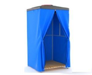 закрытая душевая кабинка с баком