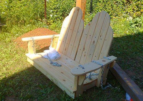 сиденье для дачных качелей фото