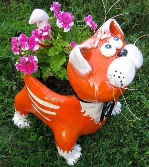 Кот сделанный из цемента