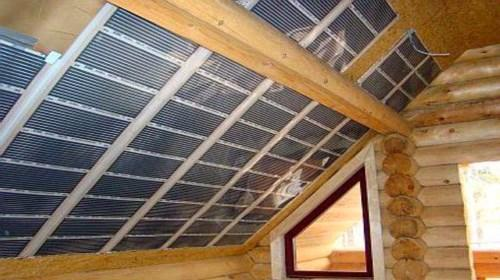 Пленочные обогреватели на потолке