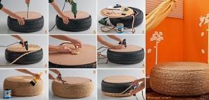 сделать мебель из автомобильных покрышек