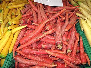 Цветная морковь на прилавках