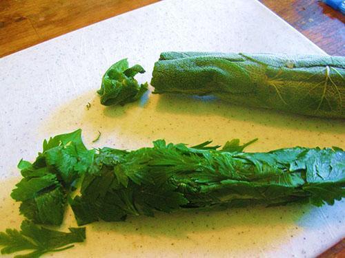 Использование замороженной зелени