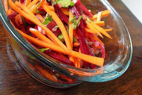 Морковно-свекольный салат