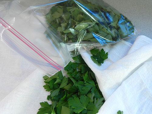 Подготовка листков к заморозке