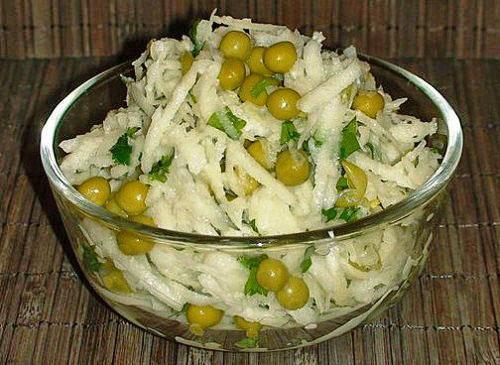 Салат с редькой дайкон