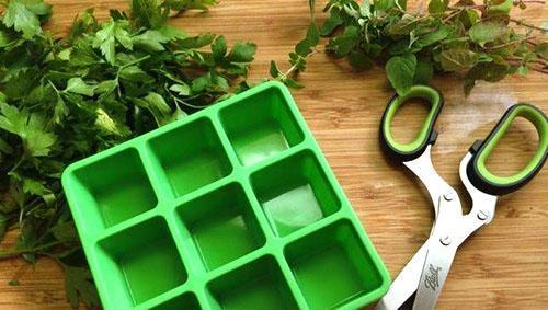 Заготовка ароматных кубиков
