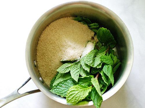 Готовим сироп из зелени мяты