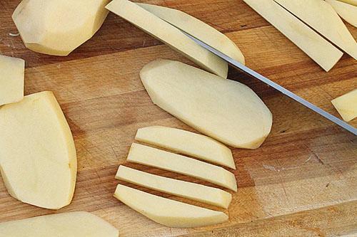Как приготовить картошку фри пошагово с