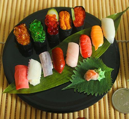Оформление блюда в японском ресторане
