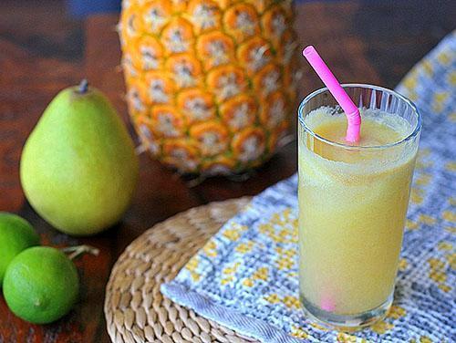 В ананасе высокая концентрация витамина С