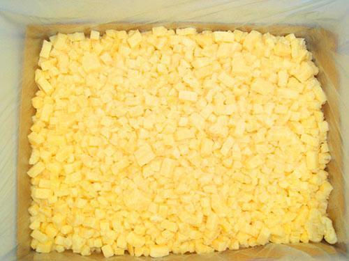 Замороженный нарезанный ананас