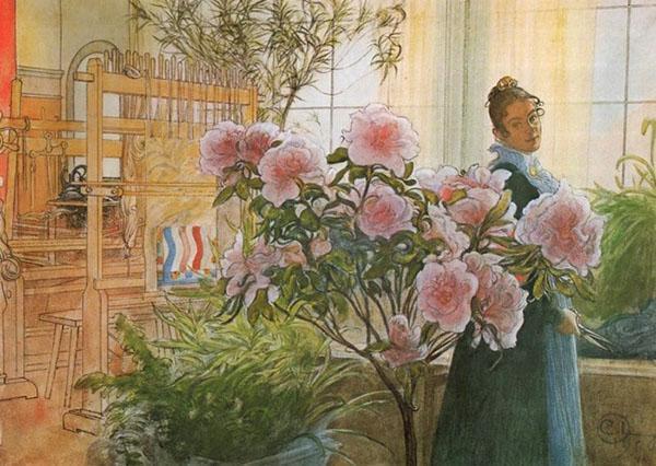 Цветущая азалия - символ благополучия
