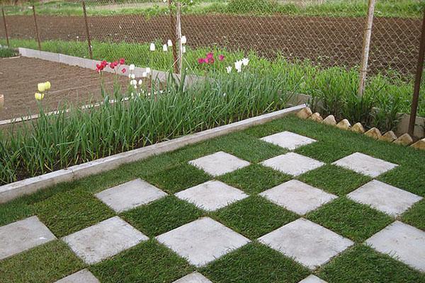 Оригинальное решение газона