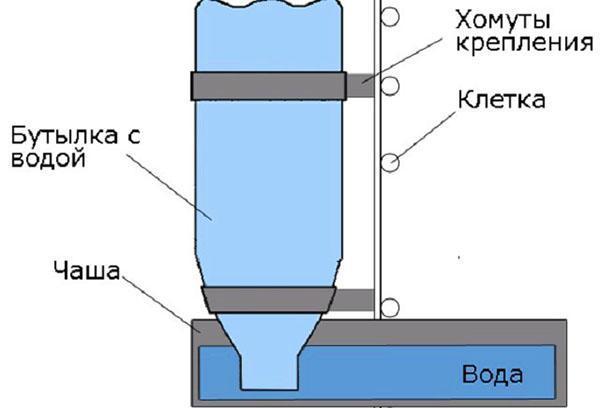 Схема вакуумной поилки