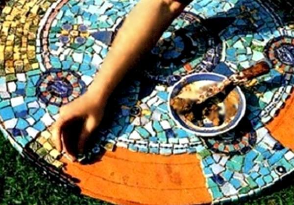 Очистка мозаики от клея