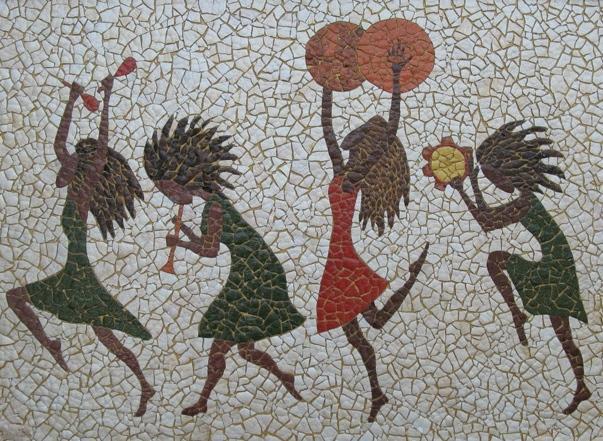 Детский оркестр мозаикой