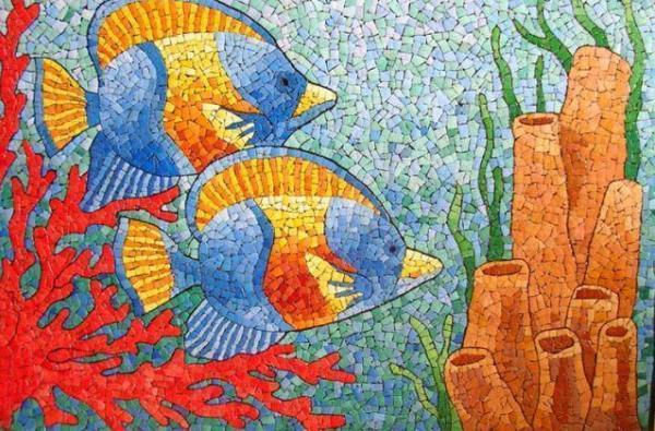 Мозаика рыбки под водой