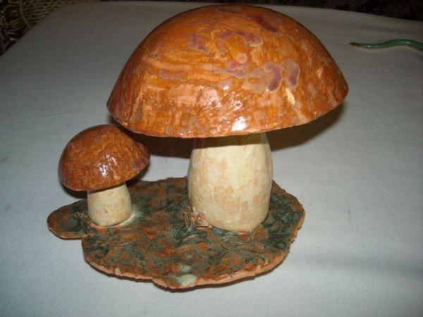 Готовая фигурка гриба