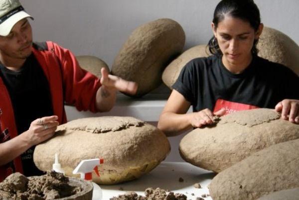 обработка подошвы камня