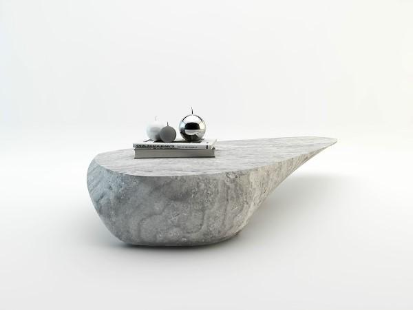 Стол из валуна бетонного