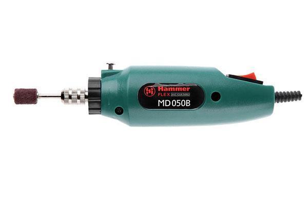 Надежный качественный прибор - мини дрель hammer md050b