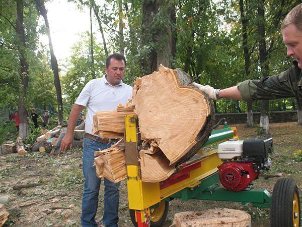 Гидравлический колун дров своими руками 890
