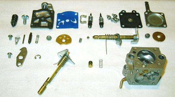 Разборка карбюратора и промывка деталей