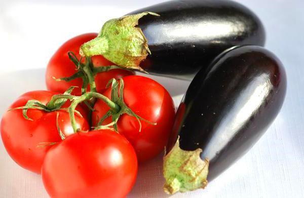баклажаны и томаты