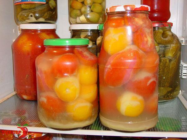 томаты в яблочном соке