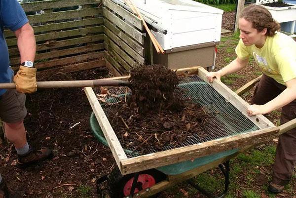 просеваем компост