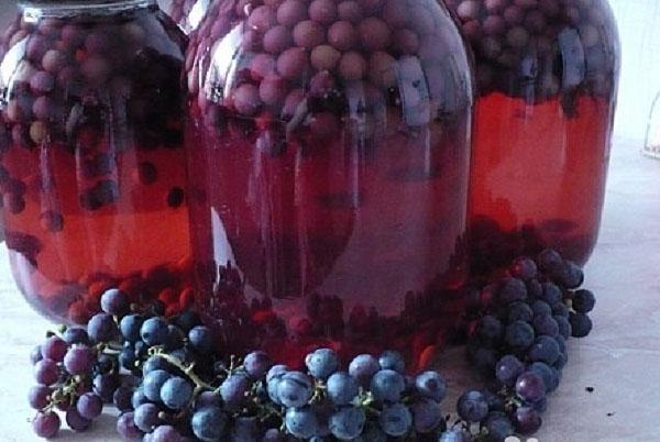 заготовка из винограда на зиму