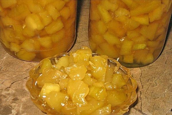 ароматное варенье из патиссонов и лимонов