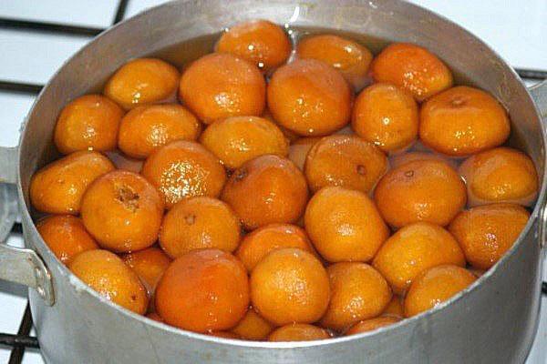 проварить мандарины