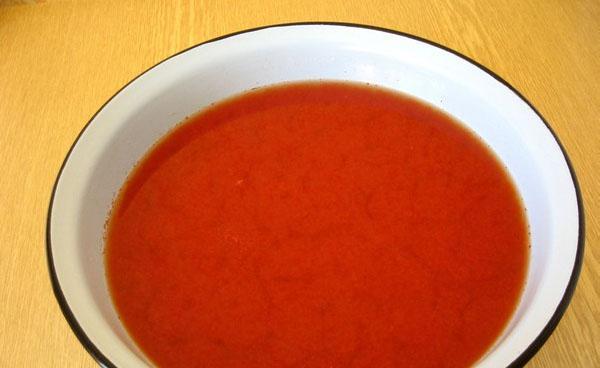 отжать томатный сок