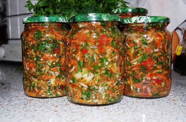 заправка из соленых овощей