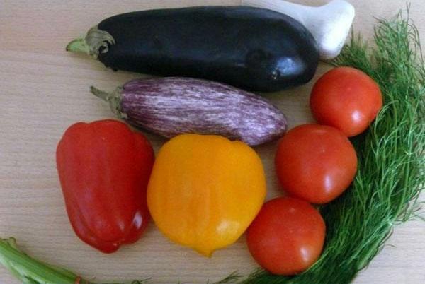 овощи и зелень для салата
